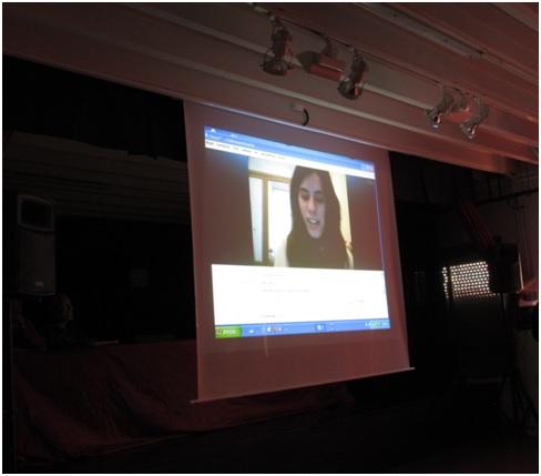 Ruth García en videoconferencia desde Bruselas el día del Acto de Graduación
