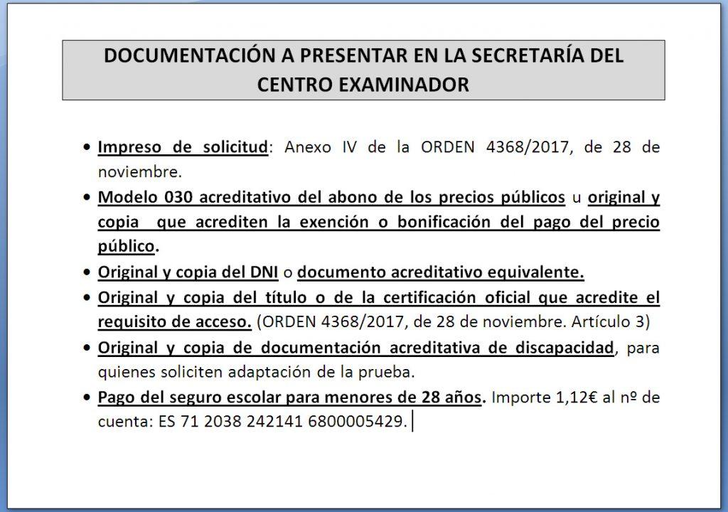 2018 pruebas libres documentaciOn